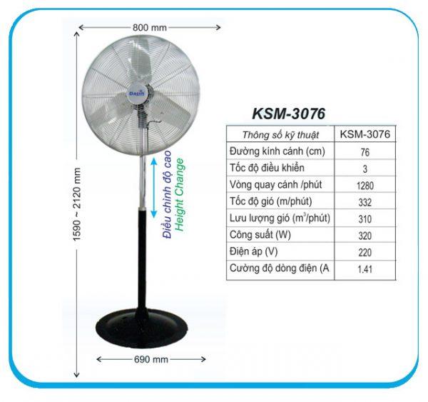 Quạt đứng công nghiệp KSM-3076
