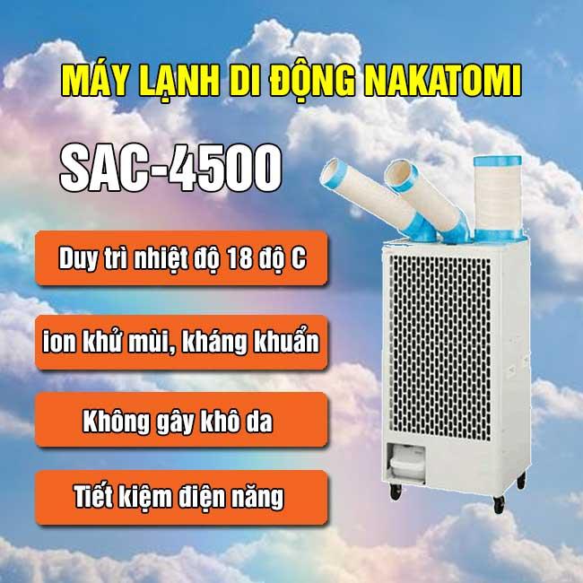 máy lạnh di động nakatomi sac-4500
