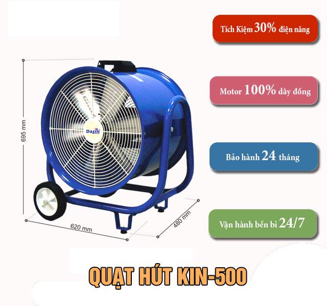 ưu điểm quạt hút kin-500