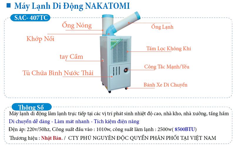 thông tin máy lạnh sac-407TC