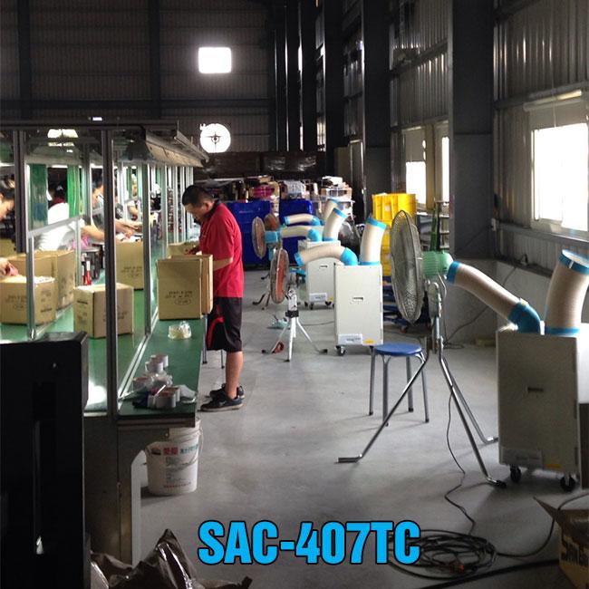 ứng dụng máy lạnh di động sac-407TC