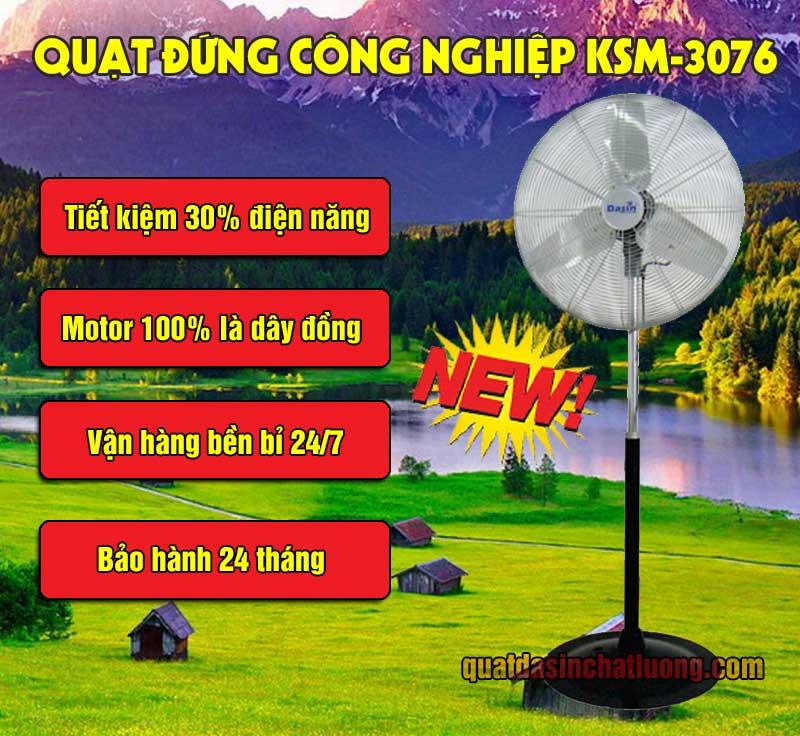 ưu điểm quạt đứng KSM-3076