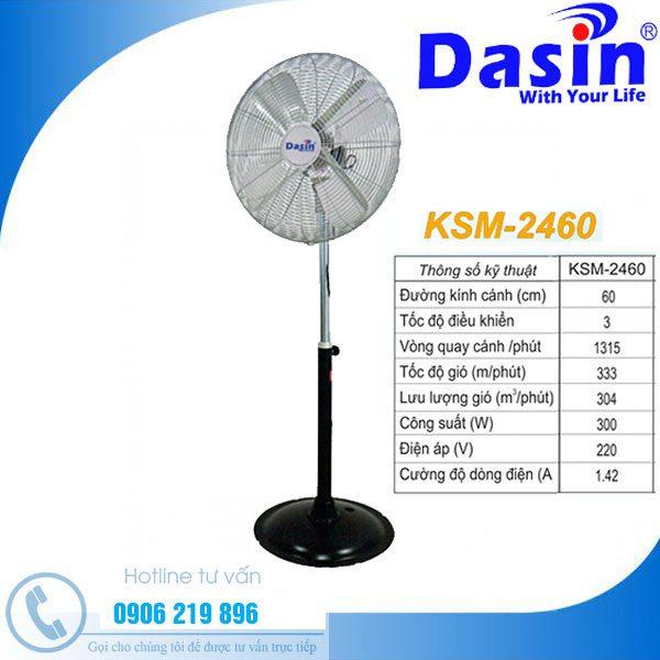 Quạt đứng công nghiệp dasin KSM-2460 chất lượng nhất