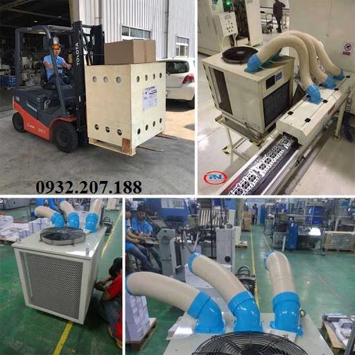 Sử dụng máy lạnh di động nakatomi làm mát dây chuyền sản xuất