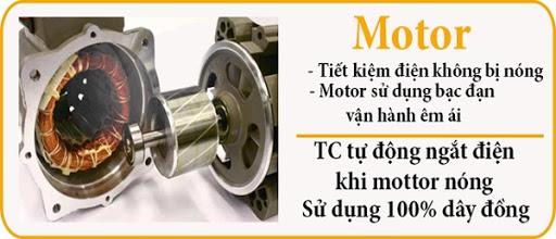 Motor của các dòng quạt Dasin quấn 100% dây đồng