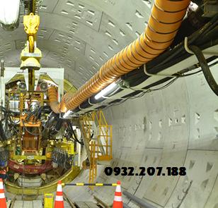 Ống gió mềm trong công trình hầm gầm