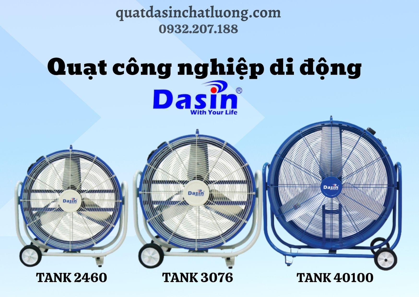 Quạt công nghiệp di động Dasin Tank
