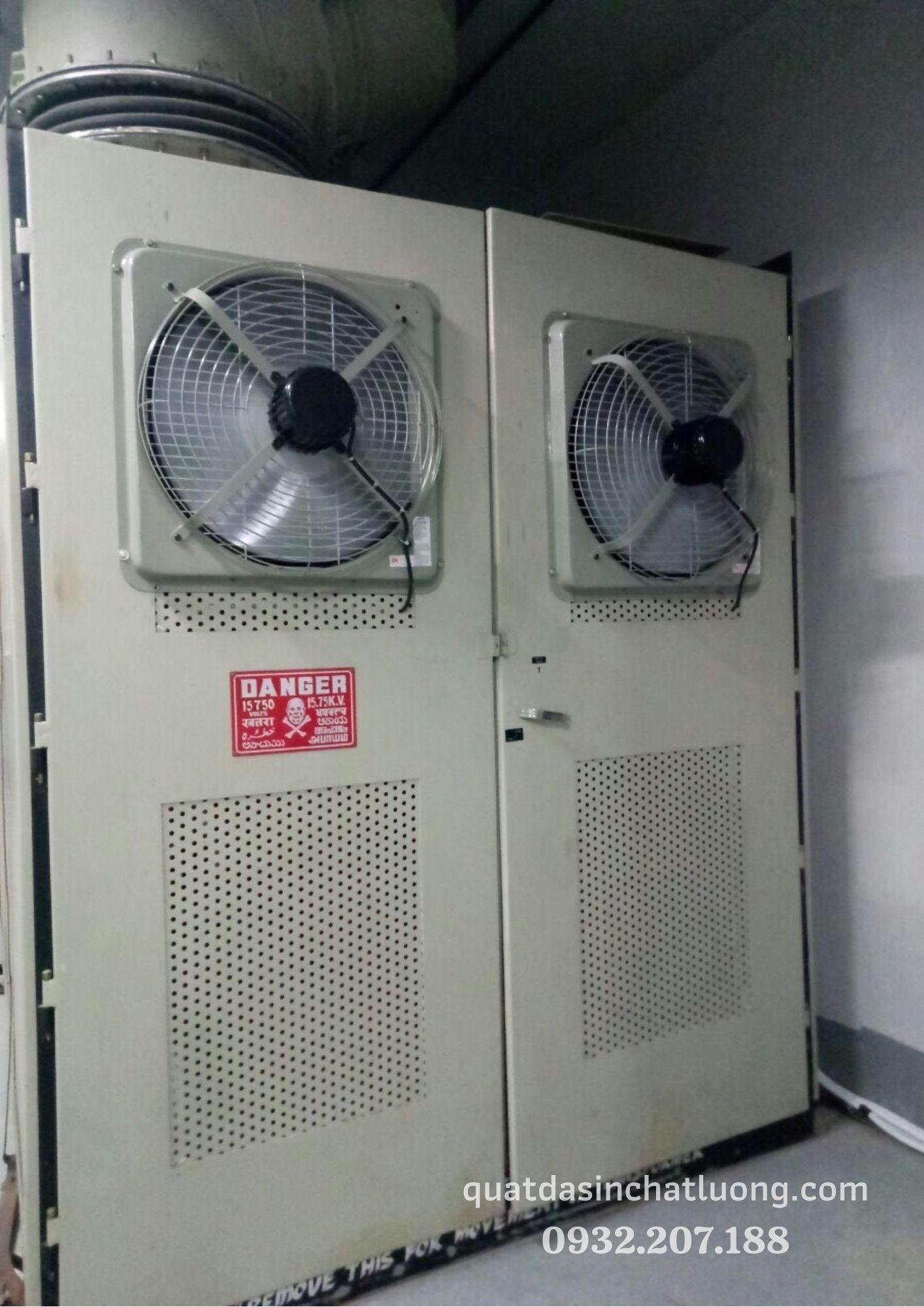 Làm mát tủ điện bằng quạt thông gió Dasin