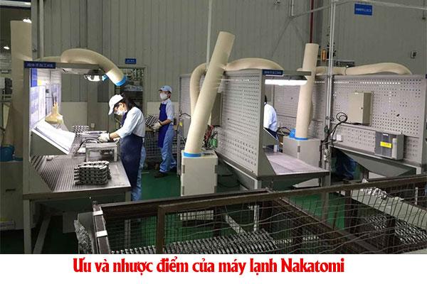 Ưu và nhược điểm của máy lạnh Nakatomi