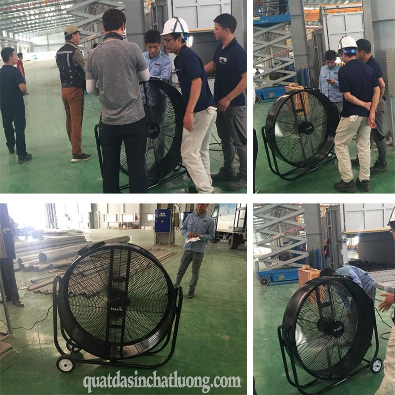 Sử dụng quạt di động trong công nghiệp