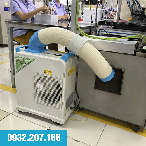 Sử dụng máy lạnh làm mát điểm trong công nghiệp