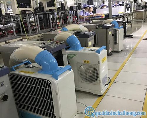 Sử dụng máy lạnh làm mát điểm SAC- 1800 trong sản xuất