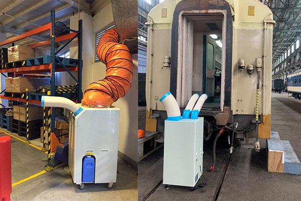 Máy lạnh di động Nakatomi được sử dụng rộng rãi trong sản xuất
