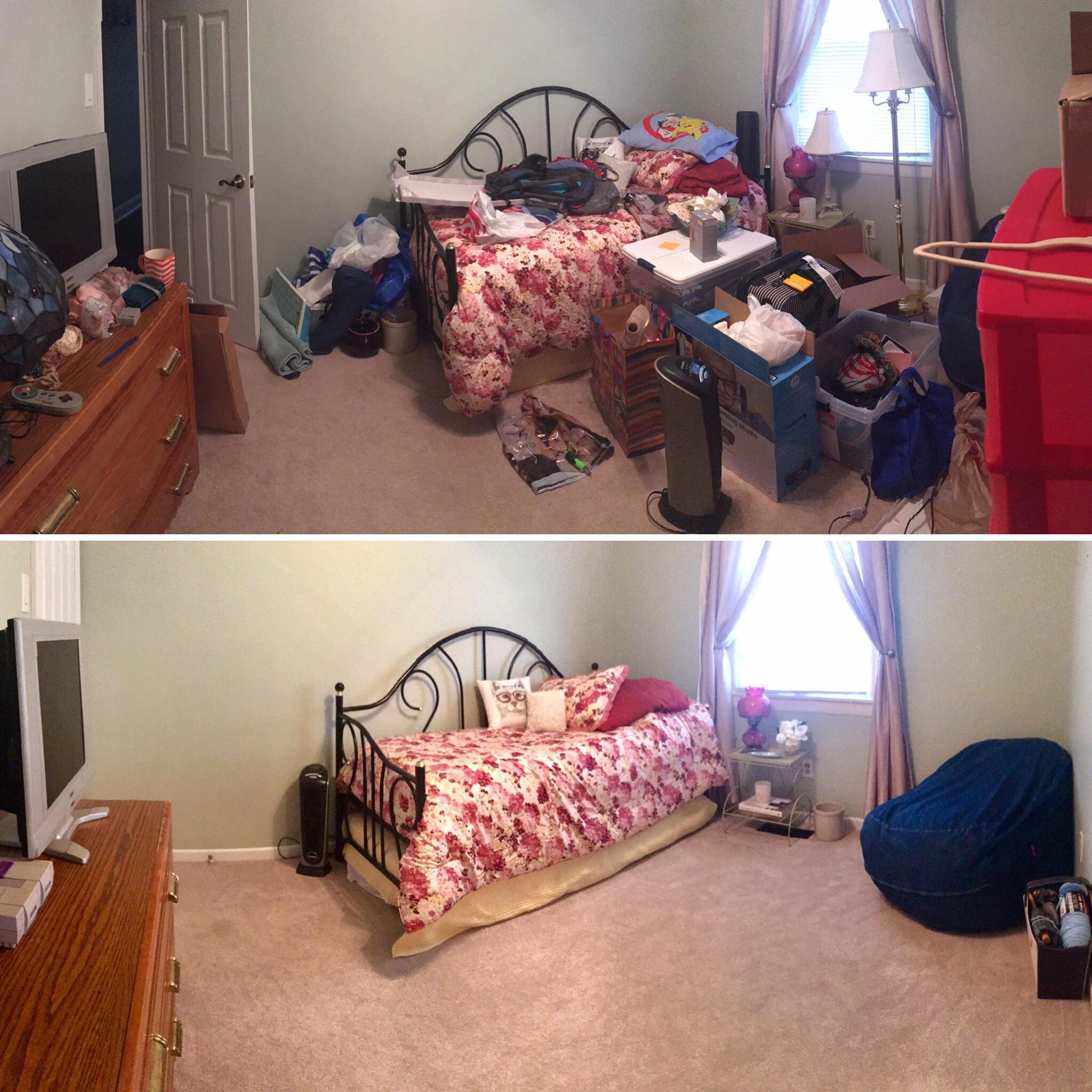 Thu dọn rác trong phòng ngủ mỗi ngày