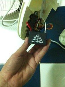 Kiểm tra tụ điện của quạt