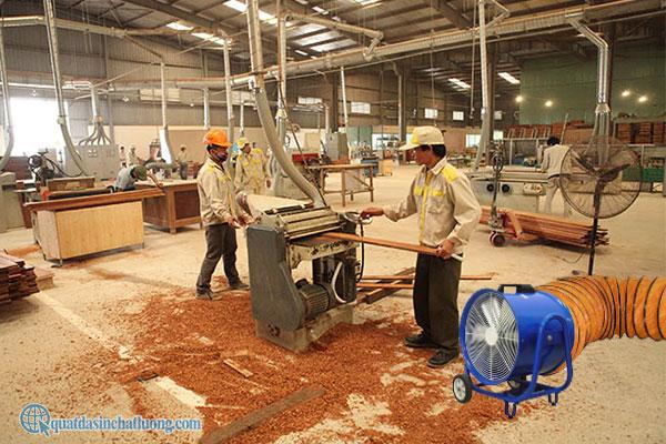 Quạt hút KIN 500 dùng trong chế biến gỗ
