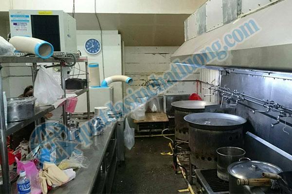 Sử dụng máy lạnh SAC- 2500 làm mát bếp nấu