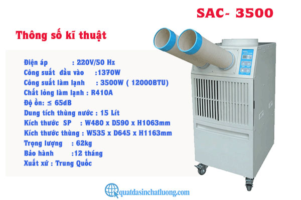 Thông số kĩ thuật SAC- 3500