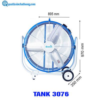 Quạt sàn di động công nghiệp tank 3076