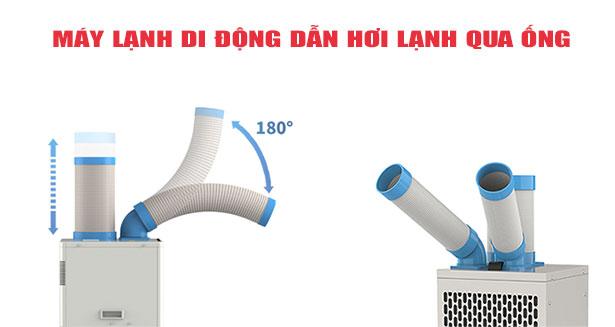 Máy lạnh di động dẫn hơi lạnh qua ống