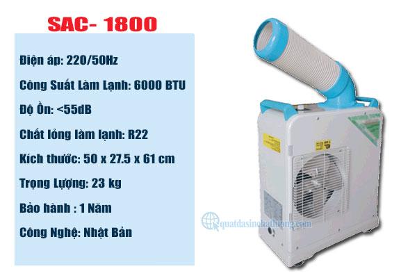 Bán máy lạnh Nakatomi SAC- 1800 tại Bình Dương