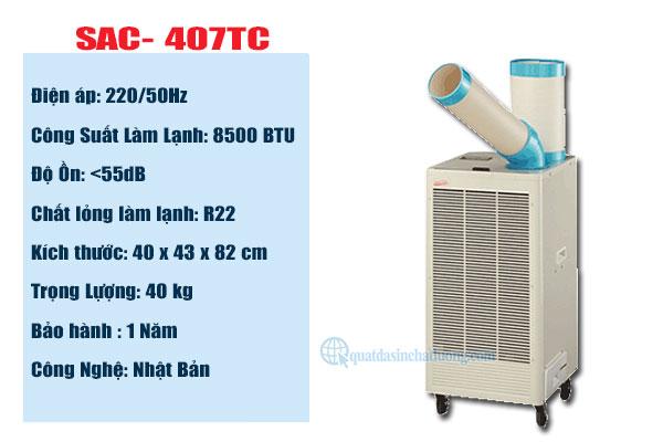 Máy lạnh SAC- 407TC tại Bình Dương được sử dụng nhiều