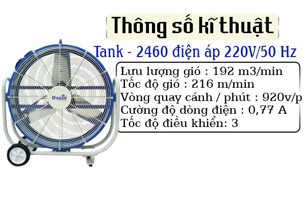 quạt sàn di động tank 2460