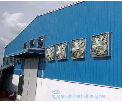 Quạt thông gió vuông gắn tường công nghiệp