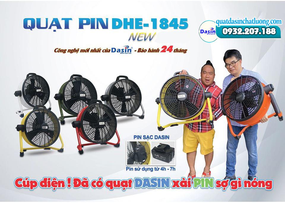 Quạt pin tích điện Dasin
